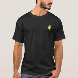 T-shirt Flammes sur la chemise noire