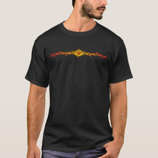 T-shirt Flammes tribales et coeur