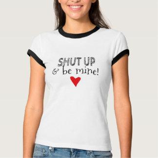 T-shirt Flanelle contrastée avec message