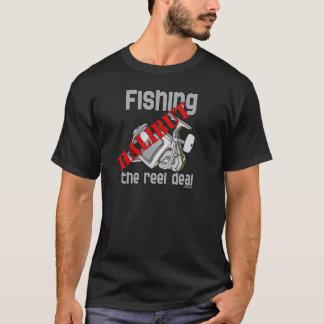 T-shirt Flétan de pêche la pêche d'affaire de bobine
