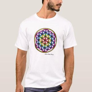 T-shirt Fleur d'arc-en-ciel de tee - shirt de la vie