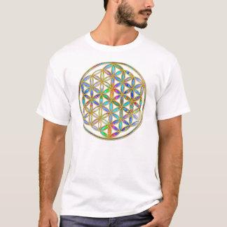 T-shirt Fleur de DES Lebens - or de la vie/Blume coloré