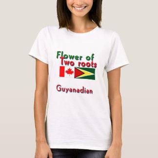 T-shirt Fleur de deux racines guyanais-canadiennes