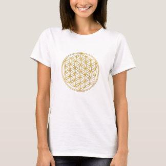 T-shirt FLEUR DE LA VIE - or