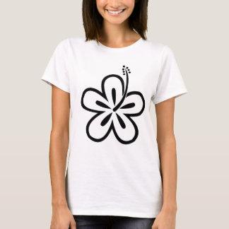 T-shirt Fleur de noir aloha