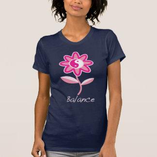 T-shirt Fleur de Yin Yang pour l'équilibre
