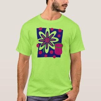 T-shirt Fleur et vase de la vie, fuchsia et profondément