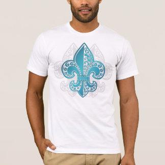 T-shirt Fleur floral bleu #3