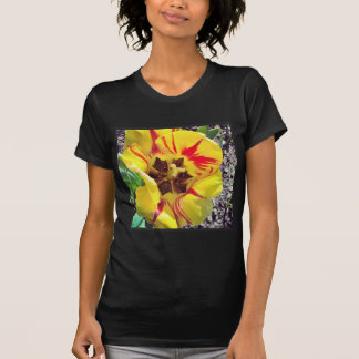 T-shirt Fleur jaune et rouge