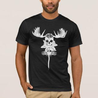 T-shirt FLEUR SAUVAGE : BLANC sur la série de noir