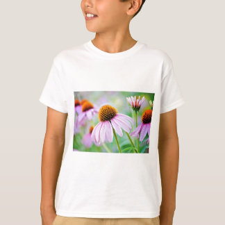 T-shirt Fleur sauvage coloré d'echinacée