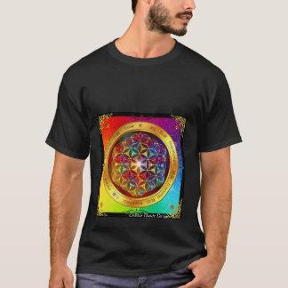 T-shirt Fleur spirituelle d'arc-en-ciel de la vie