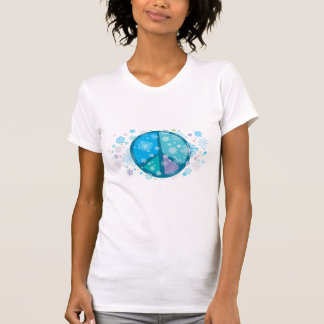 T-shirt fleuri de signe de paix