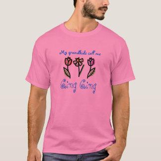 T-shirt fleurissez, Ging Ging, mes grandkids m'appellent