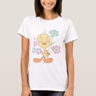 T-shirt Fleurs bleues pourpres de Tweety