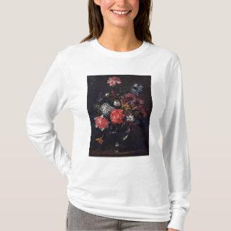 T-shirt Fleurs dans un vase en verre