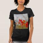 T-shirt Fleurs de pavot commun dans un domaine