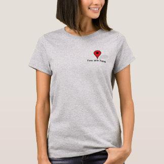 T-shirt Flirt drôle vous êtes ici Google tracez la chemise