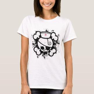 T-shirt Floc de chariot d'infirmière
