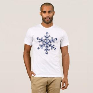 T-shirt Flocon de neige bleu géant