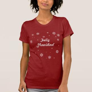 T-shirt Flocons de neige de Feliz Navidad