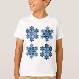 T-shirt Flocons de neige en mosaïque de Koch