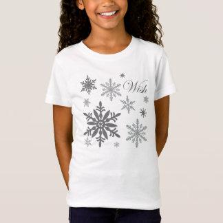 T-Shirt flocons de neige vintages modernes
