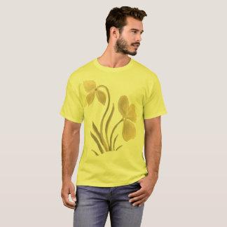 T-shirt Floral bronzage sur le jaune plus la taille
