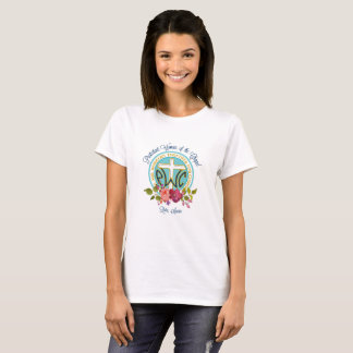 T-shirt floral de logo de PWOC