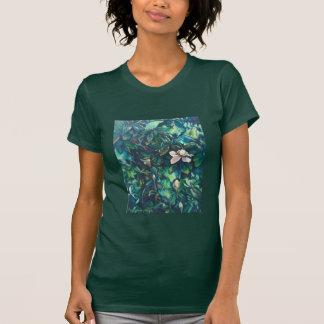 T-shirt floral de magnolia tropicale