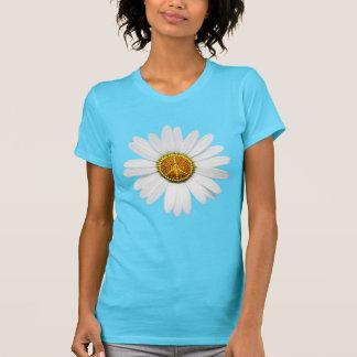T-shirt flower power de signe de paix -