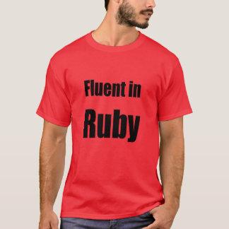 T-shirt Fluide dans le rubis - chemise rouge de