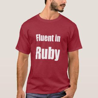 T-shirt Fluide dans le rubis - chemise rouge foncé de