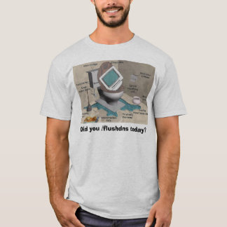 T-shirt flux de technologie d'ordinateur