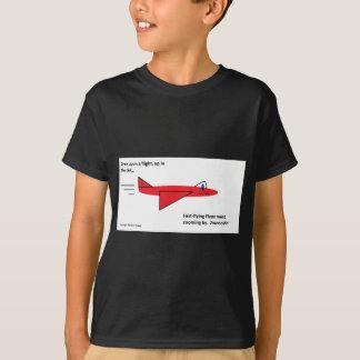 T-shirt Flynn à vol rapide l'avion rouge en vol