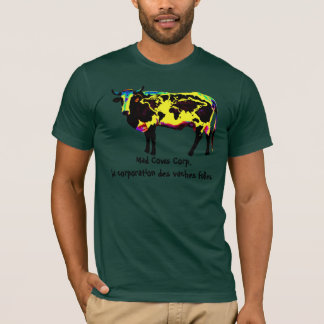 T-shirt Folles de vaches de DES de société de La de corp.