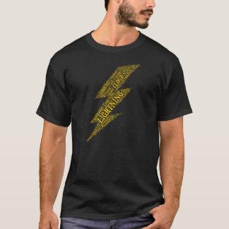 T-shirt foncé de base de foudre