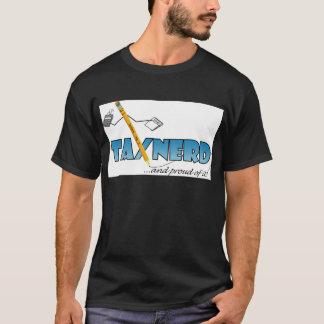 T-shirt foncé de base nerd d'impôts