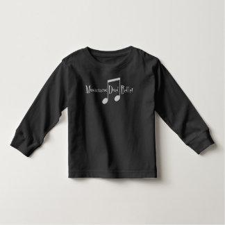 T-shirt foncé de douille d'enfant en bas âge de