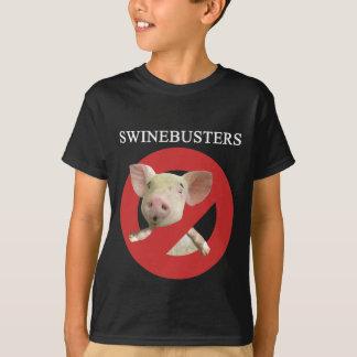 T-shirt foncé de la jeunesse de Swinebusters