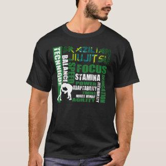 T-shirt foncé des éléments BJJ de Jiu Jitsu de