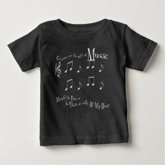 T-shirt foncé du Jersey de bébé de cadeau