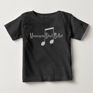 T-shirt foncé du Jersey de bébé de duo (notes)