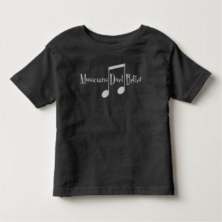 T-shirt foncé du Jersey d'enfant en bas âge de duo