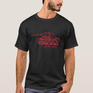 T-shirt [Foncé/rouge] conception du réservoir T-34-85