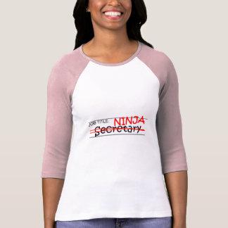 T-shirt Fonction Ninja - secrétaire
