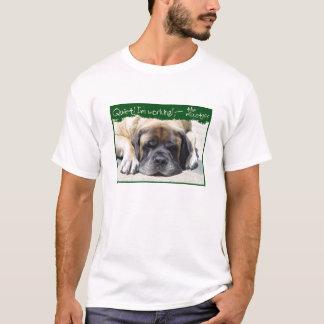 T-shirt fonctionnant de mastiff