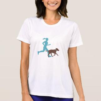 T-shirt Fonctionnement avec le chien (aqua/chocolat)