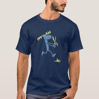 T-shirt Fonctionnement grumeleux avec des ciseaux