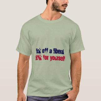 T-shirt Font tic tac un libéral, pensent pour vous-même